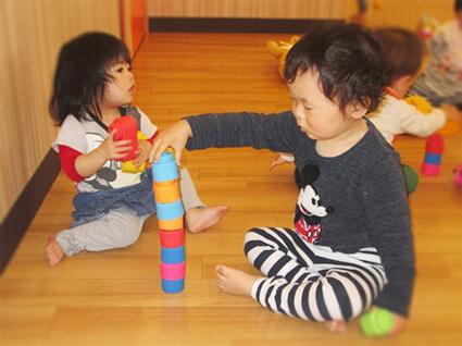 埼玉県さいたま市見沼区認可保育園 ちびっこランドななさと園 自由遊び
