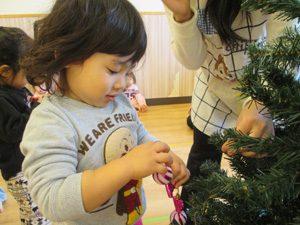 ちびっこらんど七里園 保育園 クリスマスツリー写真