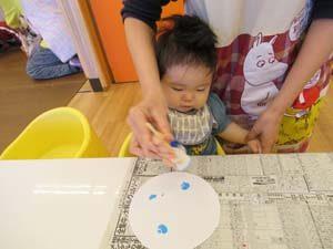 ちびっこらんど七里園 保育園 0歳児 制作写真