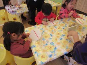ちびっこらんど七里園 保育園 2歳児 制作写真